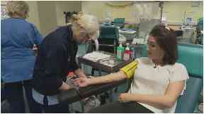 Clare McNeill give blood