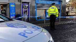 Edinburgh: Street cordoned off by police.
