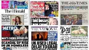 News Stand: The headlines across Scotland.