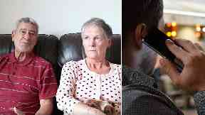 Warning: Ian and Margaret Meikle were almost conned out of money by phone scammers.