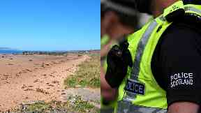 Body: Police are trying to identify the man. Seamill Beach North Ayrshire