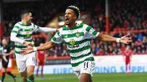 Match-winner: Scott Sinclair bagged a hat-trick as Celtic beat Aberdeen.