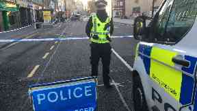 Nethergate: Street cordoned off by police. Dundee
