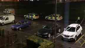 Drumchapel: Street cordoned off by police. Stabbing Drumry Road East Glasgow