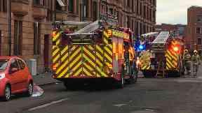 Govan: Three people taken to hospital. Southcroft Street Glasgow