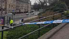 Edinburgh: The gardens have been taped off by police. Royal Terrace Gardens