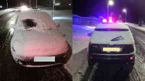 Snow: The driver was issued with a fixed penalty notice. A9 Thurso