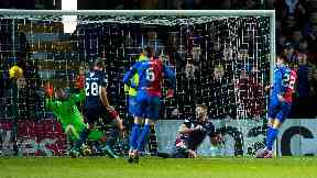 Brad McKay scores to make it 2-1 for Inverness Caledonian Thistle.