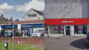Robberies: A gun was used by the same man. robberies Ladbrokes Clydebank Scotmid Bearsden