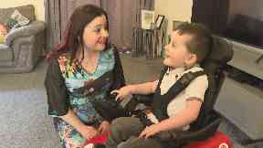 Zac Cameron with mother Amy Cameron, who takes Spinraza for spinal musclar atrophy