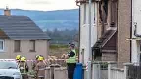 Fire: The house has been cordond off. Macdonald Drive Lossiemouth Moray