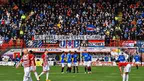 Rangers Steve Clarke banner