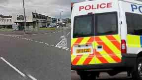 East Kilbride: The man was taken to hospital.