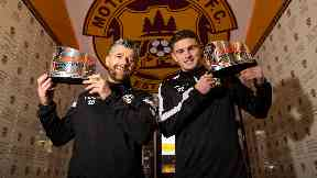 Robinson (left) and Hastie (right) have been rewarded for Motherwell's strong February showings.