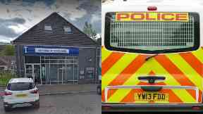 Robbery: Around £50,000 was stolen. Bank of Scotland Riddrie