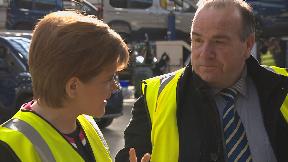Nicola Sturgeon meeting staff at Allied Vehicles in Glasgow March 13 2019.