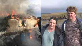 David and Susannah Parnaby lost their home in Fair Isle Bird Observatory fire