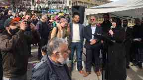 Vigils: The event was organised by the Muslim Council of Scotland.
