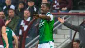 Marvin Bartley: A man has been arrested over the incident. Hibs Hearts racially abused