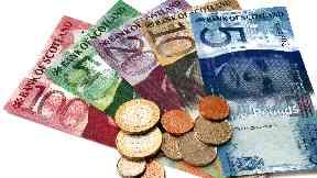 Cash money, Scottish banknotes, finance, debt, banking, banks, economy, generic 2019