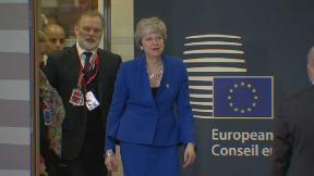 Theresa May at European Council Brexit summit April 10 2019.