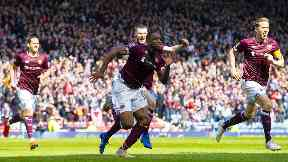Goal: Uche Ikpeazu opened the scoring for Hearts.