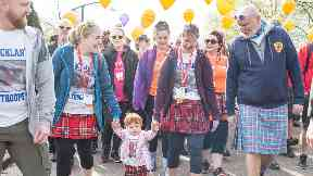 Glasgow Kiltwalk Sir Tom Hunter