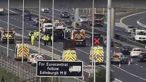 M73: A driver died in hospital after the crash.