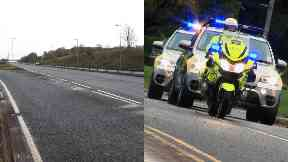 East Kilbride: The man was dumped on the side of the road.