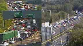 Edinburgh: Huge tailbacks are being caused. Calder junction.