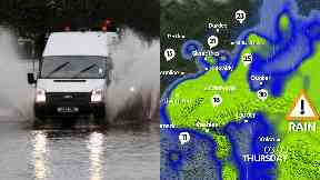 Flooding: An amber warning has been issued. Rain