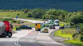Fatal RTC A96 June 30 2019 at Huntly on Inverness to Aberdeen road