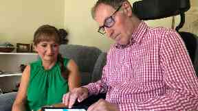 Terminally ill Richard Selley will travel to Switzerland in September to end his life. With his wife Elaine at their Perth home.