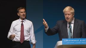 Jeremy Hunt and Boris Johnson at Perth Conservative leadership hustings.