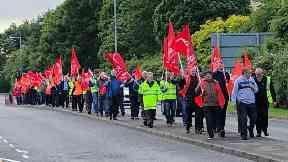 Strike: Passengers faced major disruption. Glasgow Airport