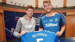 New signing: Filip Helander has joined Rangers on a four-year deal.