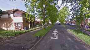 Paisley: The man was taken to hospital. Dalskeith Avenue at Ferguslie Park in Paisley