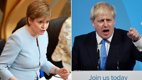 Nicola Sturgeon Boris Johnson collage.