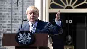 Boris Johnson Arrives In Downing Street To Take The Office Of Prime Minister