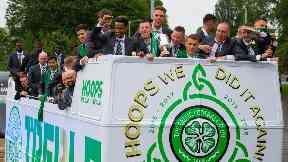 Winners: Celtic won last year's competition.