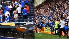 Rangers fans invasion