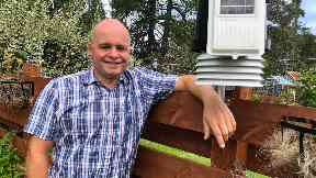 Lee Schofield, local amateur weatherman in Highlands August 2019