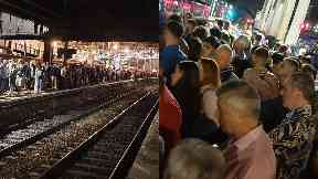 Overcrowding: Hundreds of passengers were left stranded. Haymarket Waverley