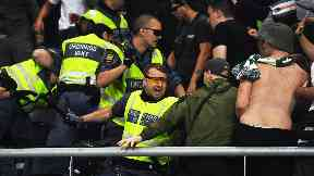 Police: Celtic fans clashed with officers. AIK Europa League Fighting