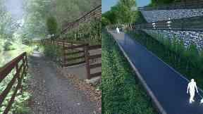 Planned Union Canal bridge