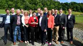 Ruth Davidson and 13 Scottish Conservative MPs back in June 2017.