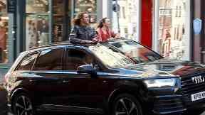 Will Ferrell and Rachel McAdams filming Eurovision in Edinburgh October 2 2019