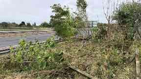 M90 police crash