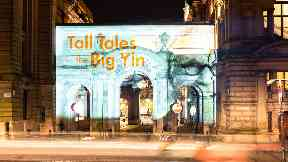 Billy Connolly projection Glasgow 2019