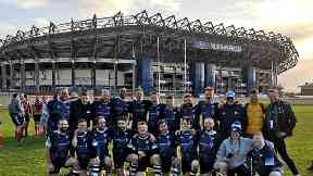 Leading the bid: Caledonian Thebans at Murrayfield.
